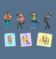 Photo agency professional photographs on choice vector