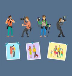 Photo agency professional photographs on choice vector