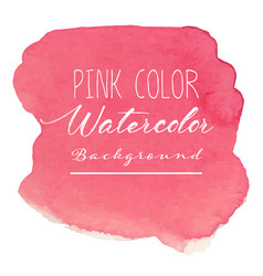 Pink abstract watercolor background vector