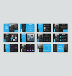 Presentation slide template infographic for use vector