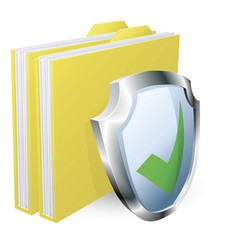 Protected folder document concept vector