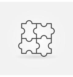 Puzzle linear icon vector image