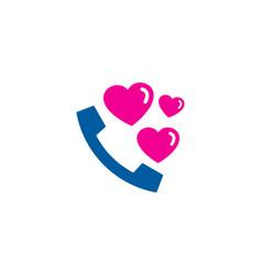 Romantic call logo icon design vector