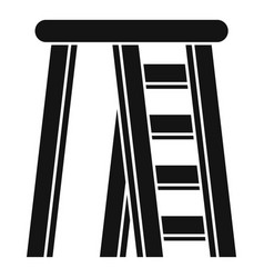 Room ladder icon simple style vector