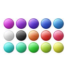 round badge mockup circle magnet 3d badge simple vector image