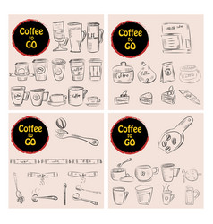 Set of doodle hand drawn sketches isolated vector