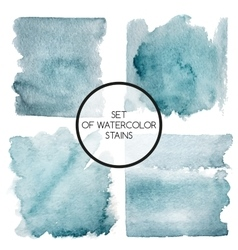 Set of four watercolor squares vector