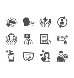 Set people icons such as touchscreen gesture vector