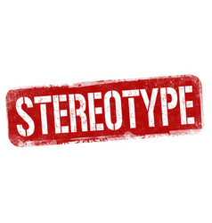 Stereotype sign or stamp vector