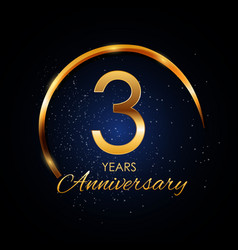 template logo 3 year anniversary vector image