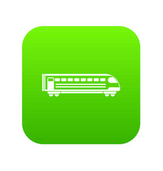 train icon digital green vector image