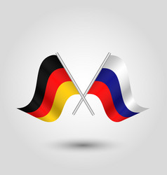 two crossed german and russian flags vector image