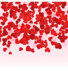 Valentine day red hearts background Holiday Red vector image