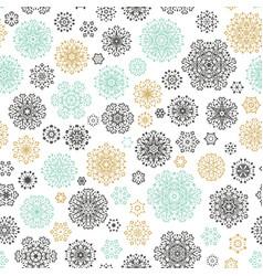 vintage seamless snowflakes pattern eps 10 vector image
