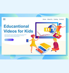 web page templates education vector image