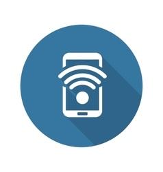 Wi-Fi Hotspot Icon Flat Design vector image