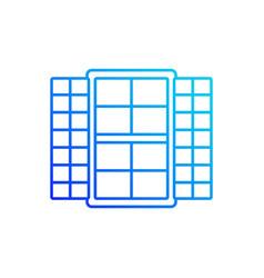 Window shutters linear icon vector
