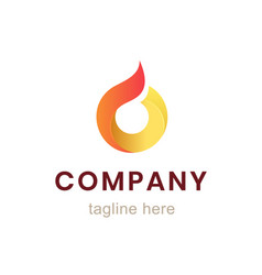 circle company logo design element for business vector image