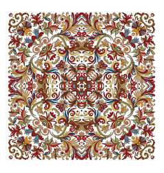 colorful ornamental floral paisley shawl bandanna vector image