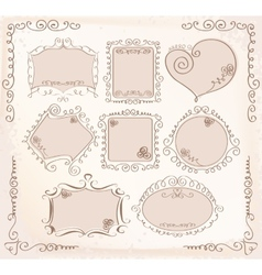 Doodle frames collection vector image