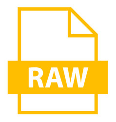 file name extension raw type vector image vector image