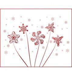 snowflakes vintage vector vector image