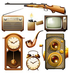 Vintage objects vector image vector image