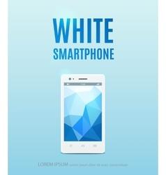 White smartphone poster design vector image vector image