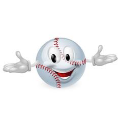 baseball ball man vector image vector image