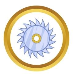 Circular saw blade icon vector image