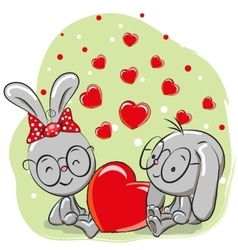 Lovers Rabbits vector image vector image
