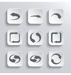 Arrows Web Icons Set vector image