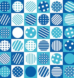 Blue geometrical background with squares and vector image vector image