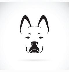 dog face on white background pet animal vector image