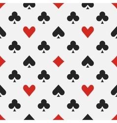 Elegant poker pattern vector image