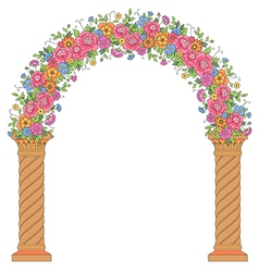 floral design arc vector image