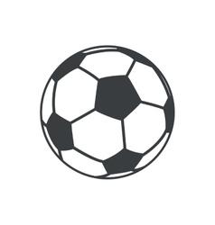 football soccer ball sport element icon vector image