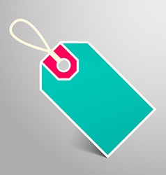 Retro Empty Blue and Red Paper Label with String vector image vector image