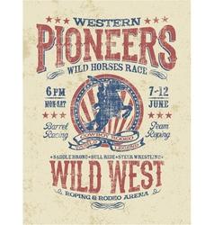 Western pioneers rodeo vector image