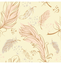 Feathers seamless vector image
