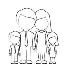 figure family with their children icon vector image vector image