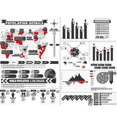 Infographic demographics 2 vector
