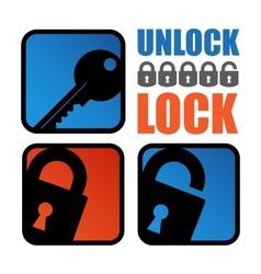 Lock-unlock icon vector image