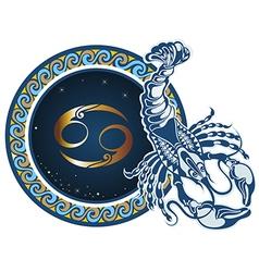 Zodiac signs - Aquarius vector image