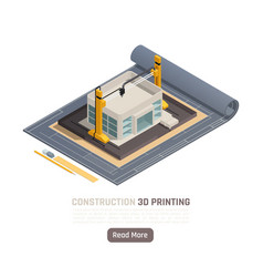 3d printing isometric composition vector image
