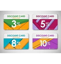 A set of discount cards in the style of the vector image