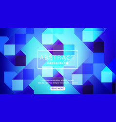 abstract bright vivid blue square background vector image