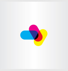 abstract cmyk printing logo symbol element vector image