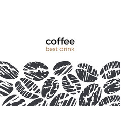 abstract template coffee bean vector image
