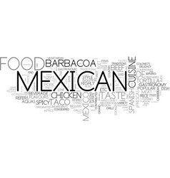 add spice to your life with mexican food text vector image